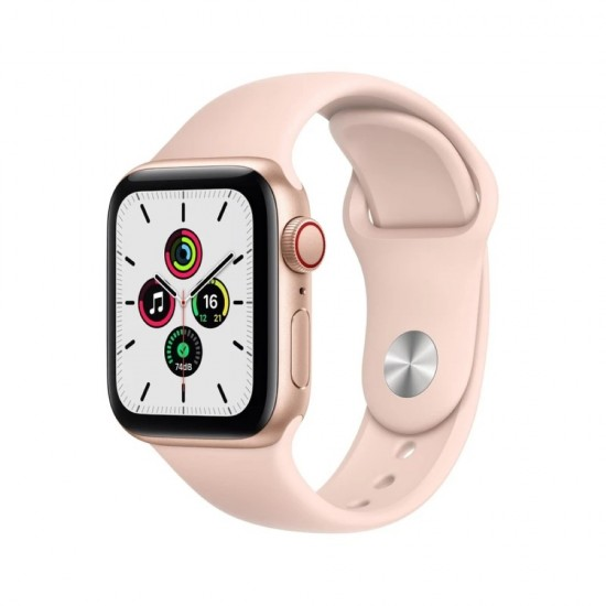 Apple Watch SE GPS + Cellular, 40mm Gold Aluminium Case with Pink Sand Sport Band