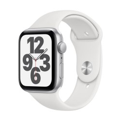 Apple Watch SE GPS, 44mm Silver Aluminium Case with White Sport Band