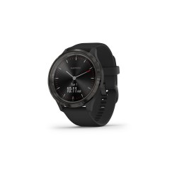 Garmin Vívomove 3 44mm Slate Stainless Steel Bezel with Black Case and Silicone Band