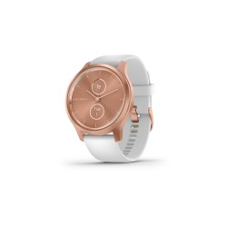 Garmin Vívomove Style 42mm Rose Gold Aluminum Case with White Silicone Band