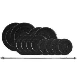 Lifespan Fitness 65kg EnduraShell Weight Set with Barbell
