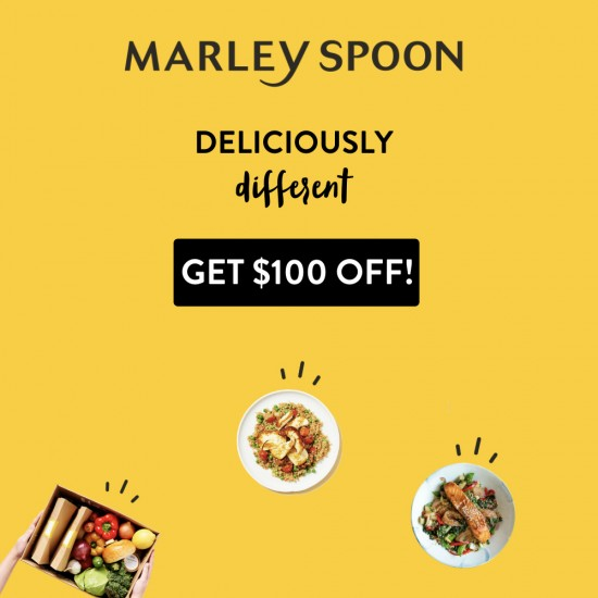 Marley Spoon - $100 off for the first 4 boxes ($25x4)