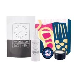The Base Collective The Ultimate Calming Bundle with Nectarine Blossom & Honey Candle